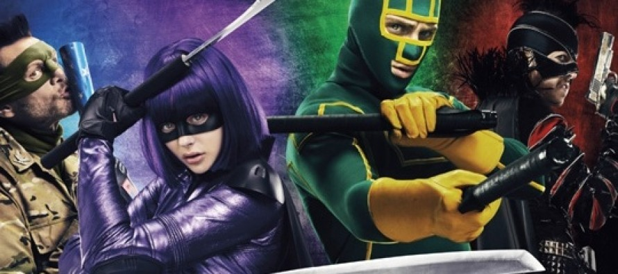 Aaron Taylor-Johnson, Chloe Grace Moretz, Jim Carrey e Christopher Mintz-Plasse estampa novo pôster de Kick-Ass 2!