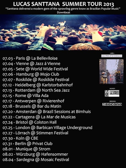 Datas da Summer Tour 2013