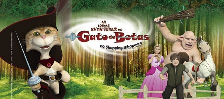 Shopping Ibirapuera apresenta As Loucas Aventuras do Gato de Botas
