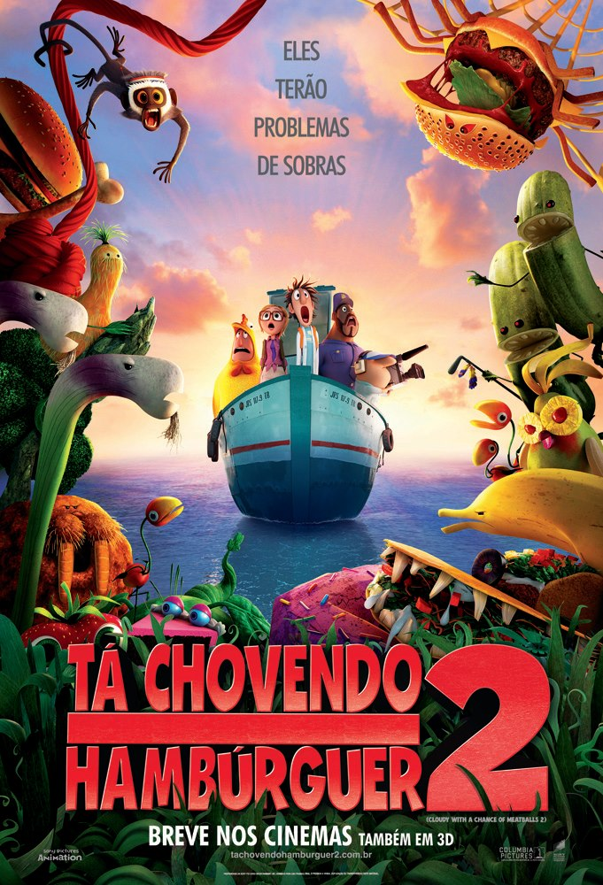 Cloudy with a Chance of Meatballs 2-Official Poster Banner PROMO NACIONAL-11MAIO2013