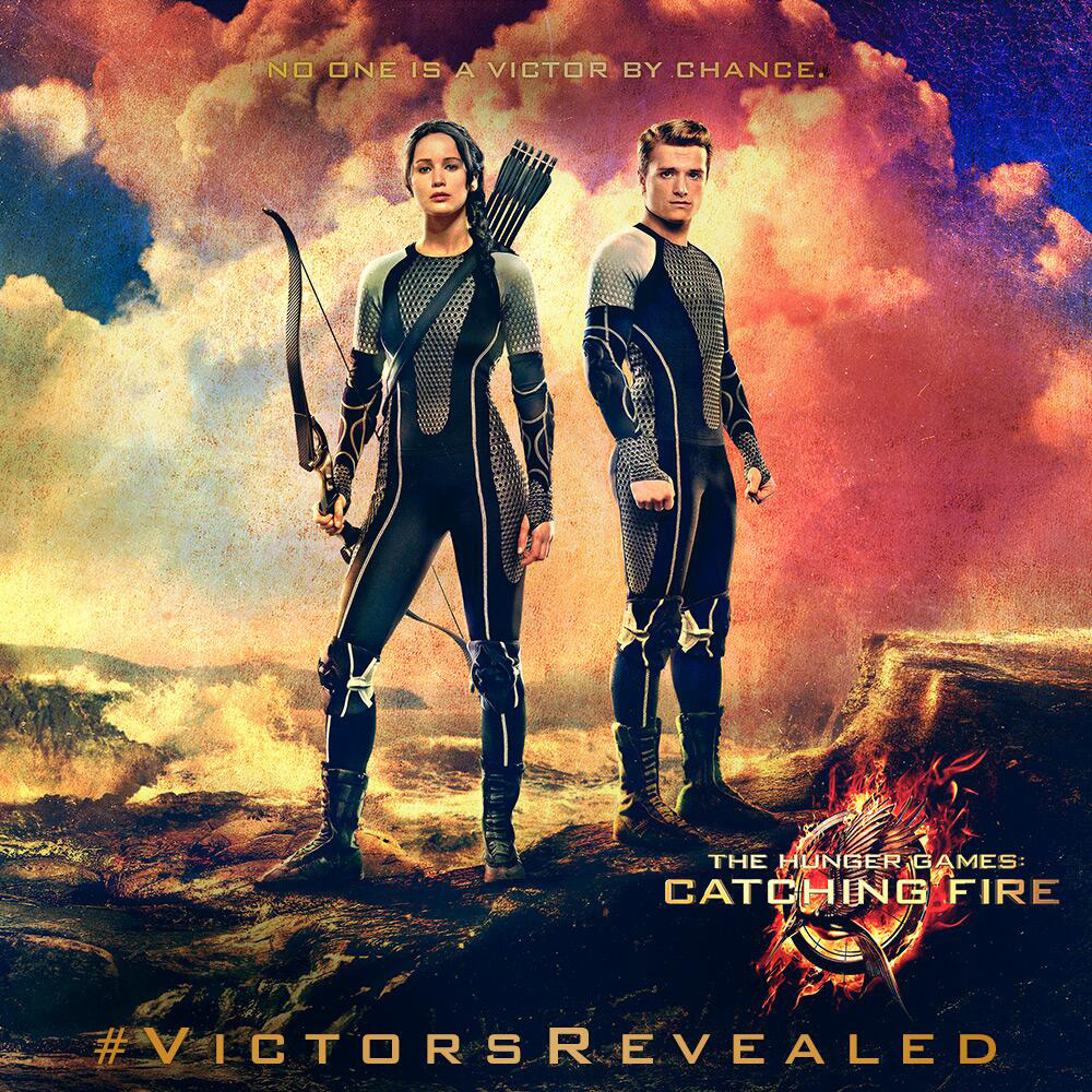 THE HUNGER GAMES CATCHING FIRE-Official Poster Banner PROMO BANNER-21AGOSTO2013