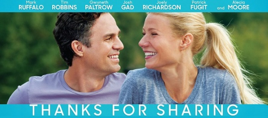 Assista ao trailer internacional de Thanks for Sharing, comédia dramática com Gwyneth Paltrow, Mark Ruffalo e a cantora Pink