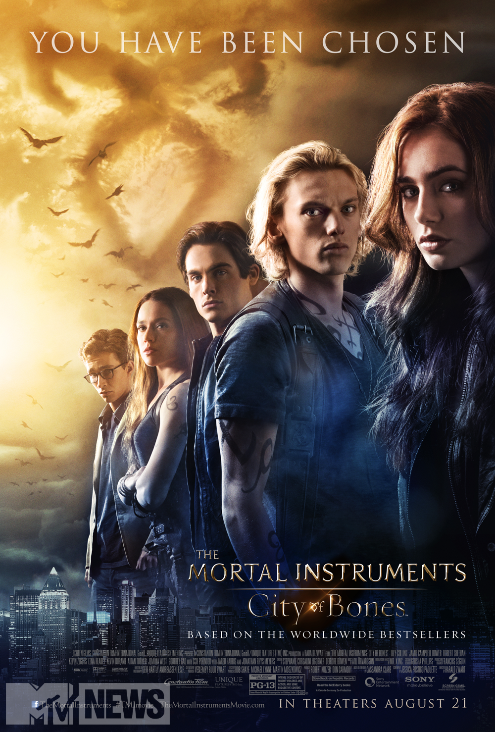 The Mortal Instruments City of Bones-Official Poster Banner PROMO-09JULHO2013