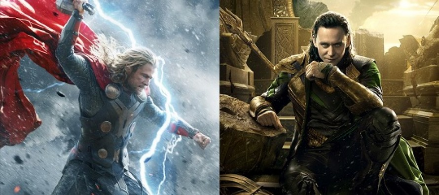 Thor (Chris Hemsworth) e Loki (Tom Hiddleston) nos dois cartazes inéditos de Thor: O Mundo Sombrio