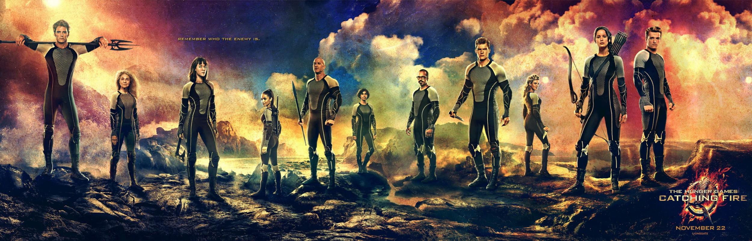 The Hunger Games Catching Fire-Official Poster Banner PROMO BANNER-02SETEMBRO2013