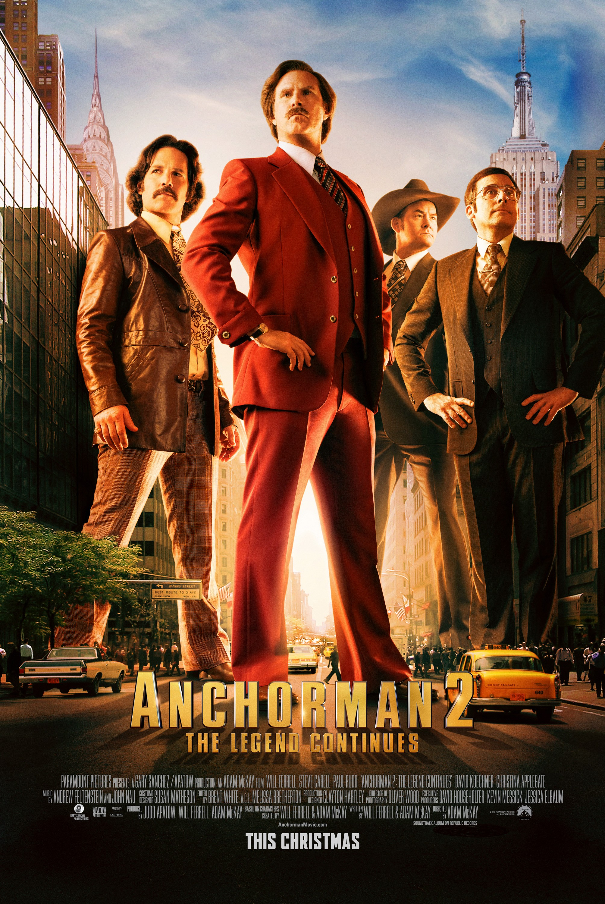 Anchorman The Legend Continues-Official Poster Banner PROMO POSTER-28OUTUBRO2013