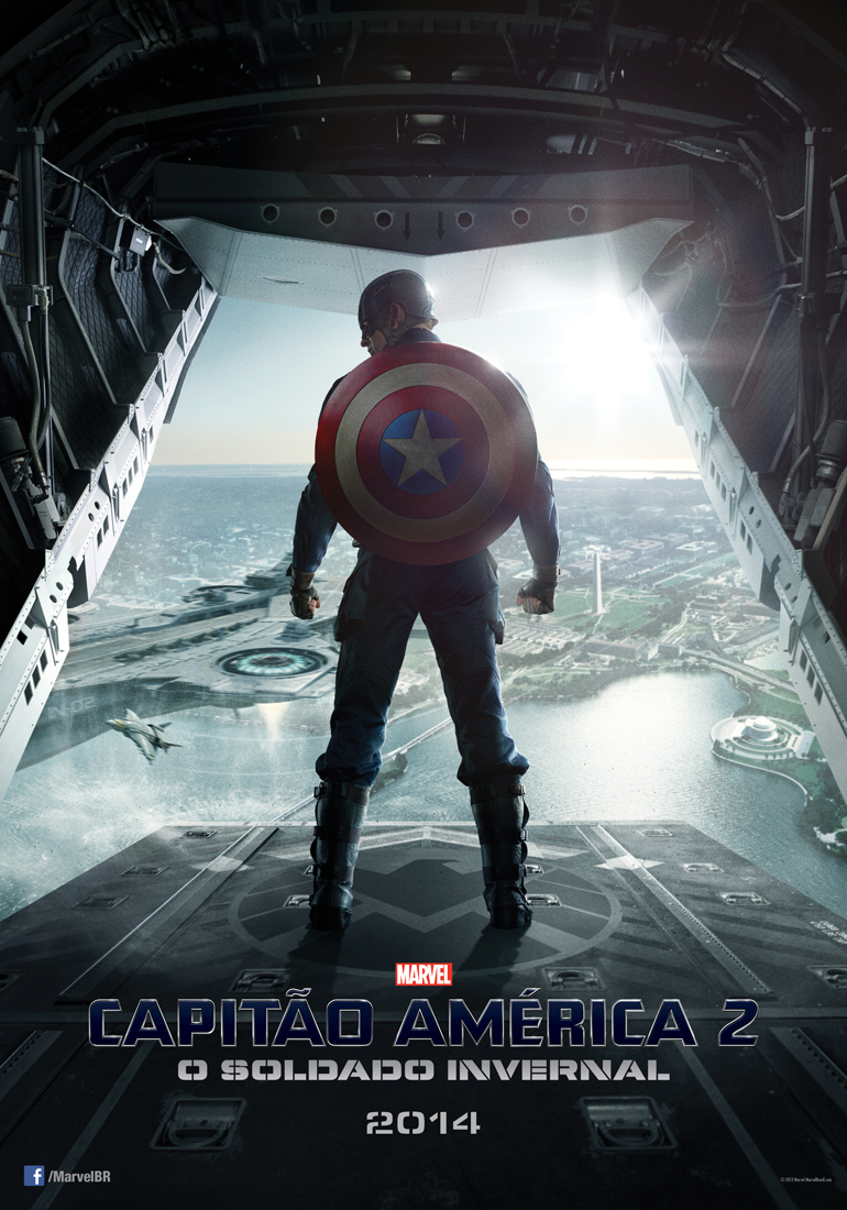 Captain America The Winter Soldier-Official Poster Banner PROMO BRAZIL-24OUTUBRO2013