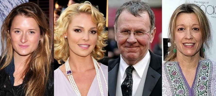 Katherine Heigl, Tom Wilkinson, Linda Emond e Grace Gummer no elenco de Jenny's Wedding