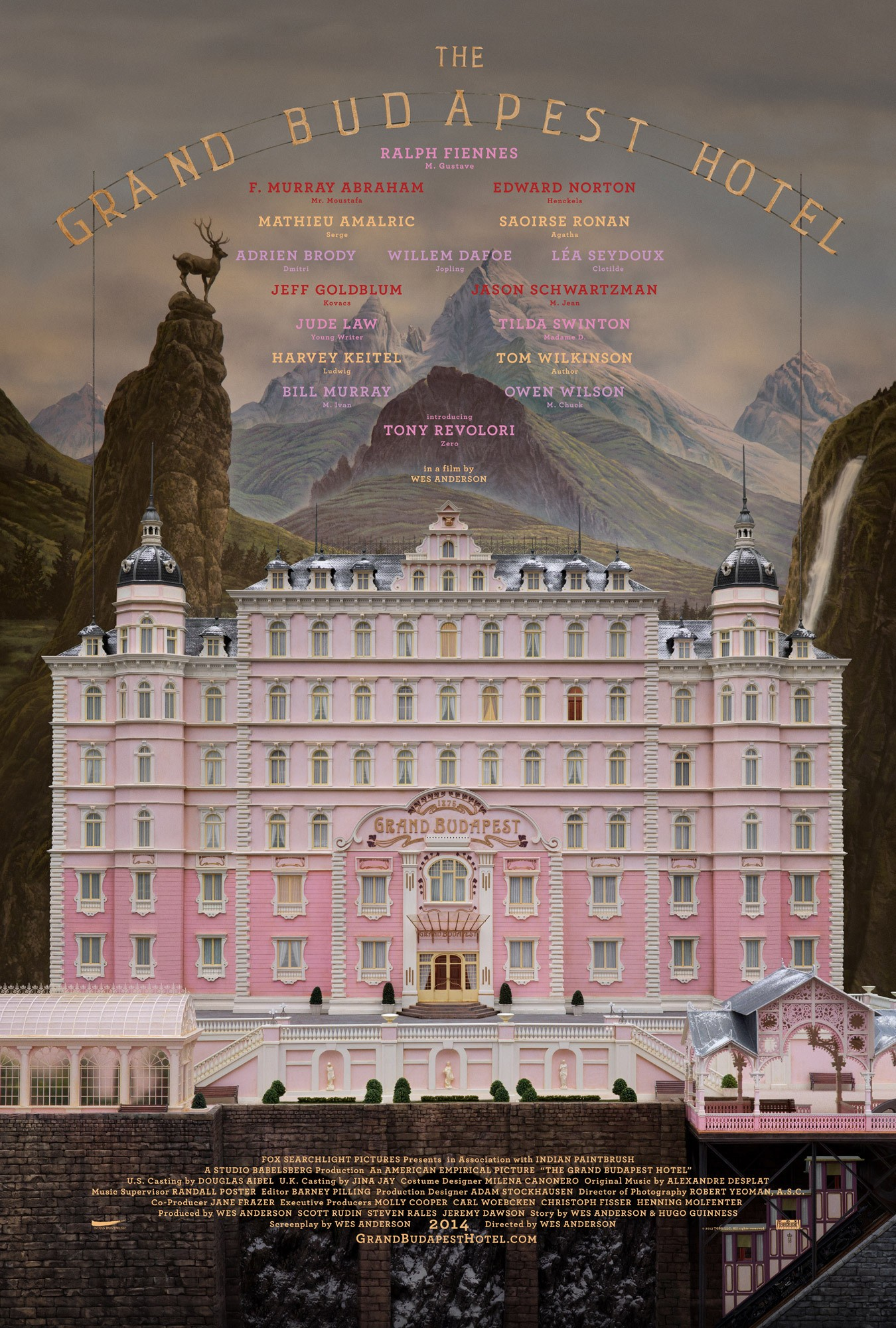 The Grand Budapest Hotel-Official Poster Banner PROMO POSTER-15OUTUBRO2013