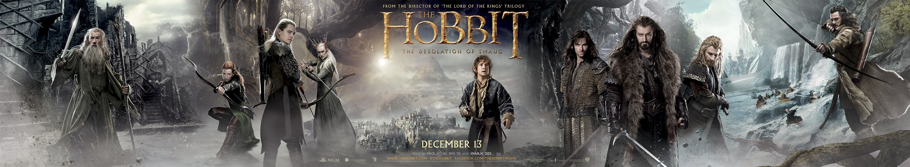 The Hobbit The Desolation of Smaug-Official Poster Banner PROMO XXLG-17OUTUBRO2013
