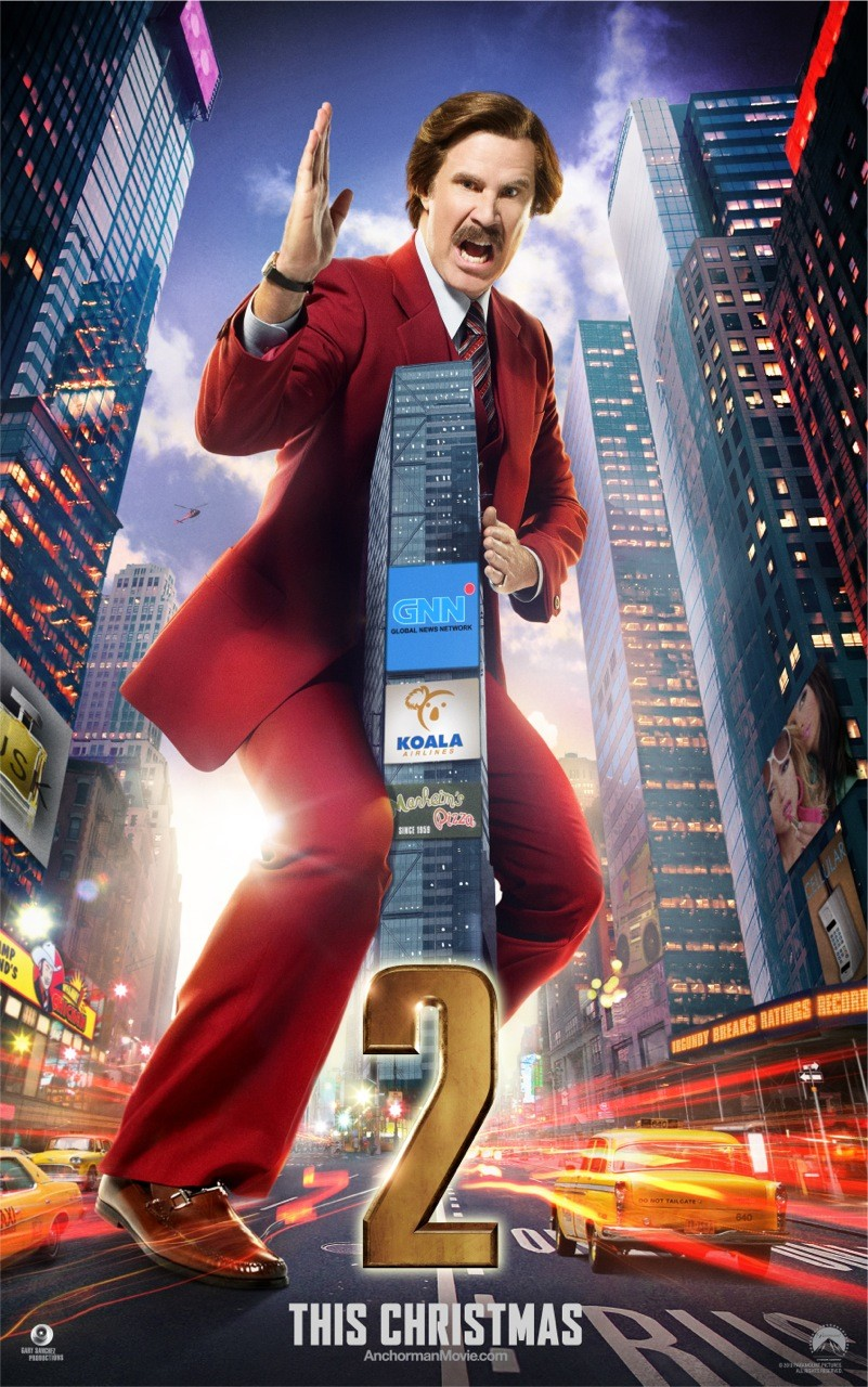 Anchorman 2 The Legend Continues-Official Poster Banner PROMO CHAR XLG-05NOVEMBRO2013-02