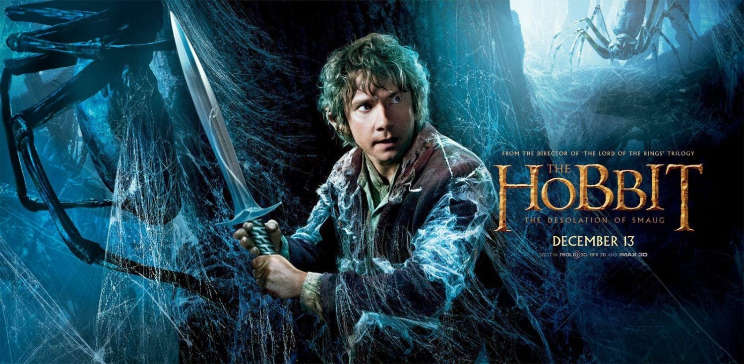 THE HOBBIT THE DESOLATION OF SMAUG-Official Poster Banner PROMO BANNER XLG-19NOVEMBRO2013