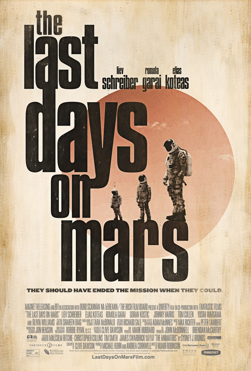 THE LAST DAYS ON MARS-Official Poster Banner PROMO POSTER-04NOVEMBRO2013-01