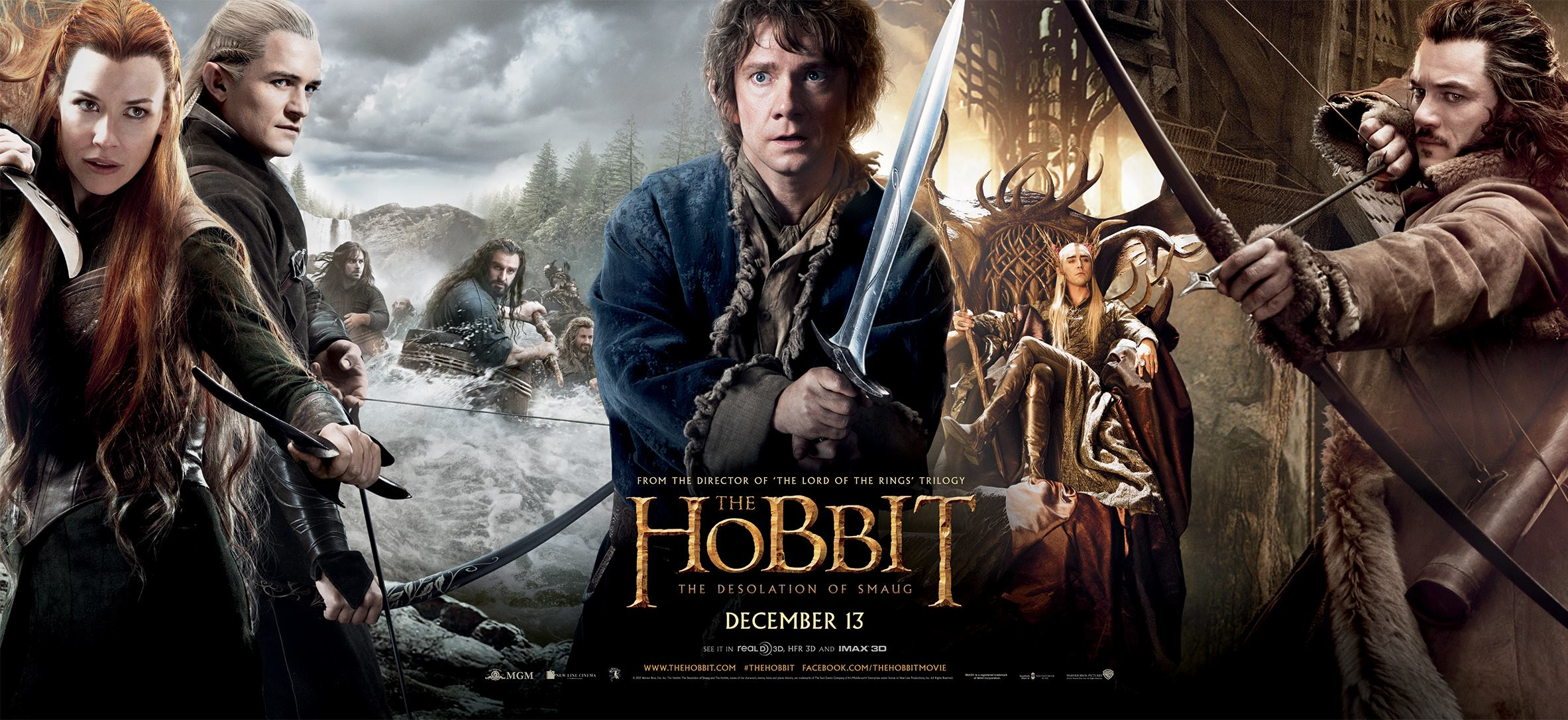 The Hobbit The Desolation of Smaug-Official Poster Banner PROMO BANNER XLG-13NOVEMBRO2013