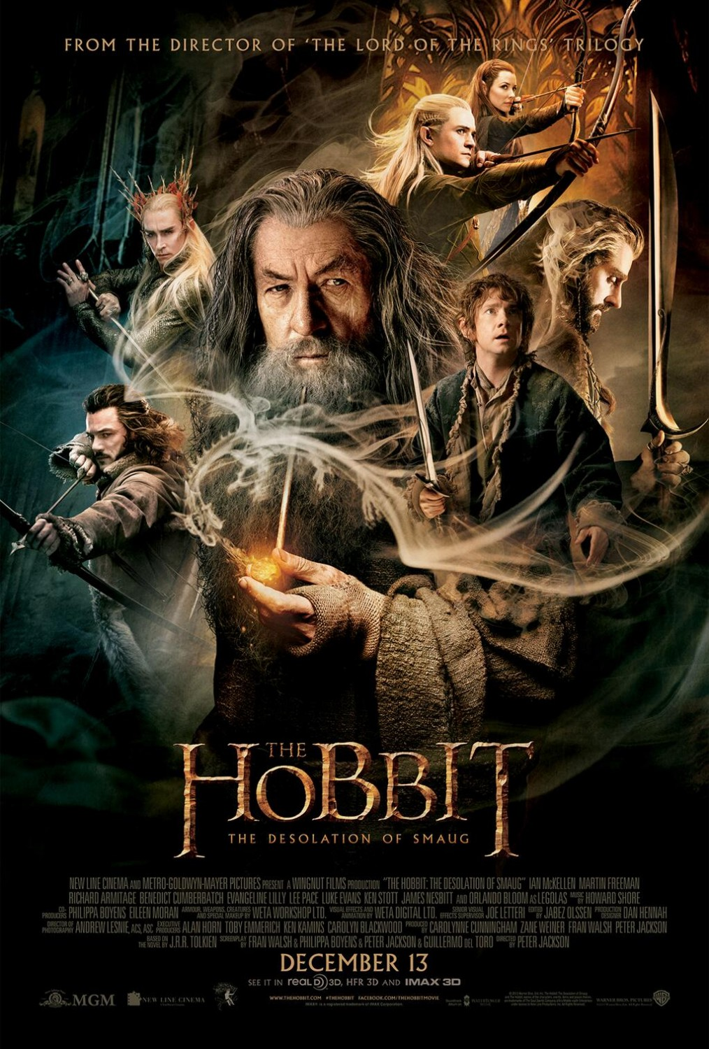 The Hobbit The Desolation of Smaug-Official Poster Banner PROMO POSTER XLG-05NOVEMBRO2013