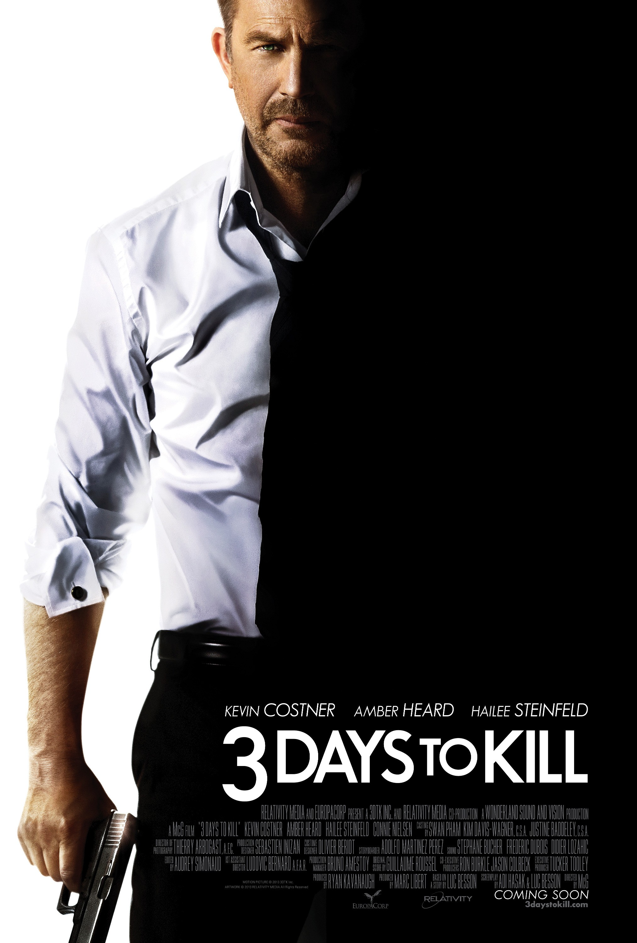 3 Days to Kill-Official Poster Banner PROMO POSTER XXLG-18DEZEMBRO2013