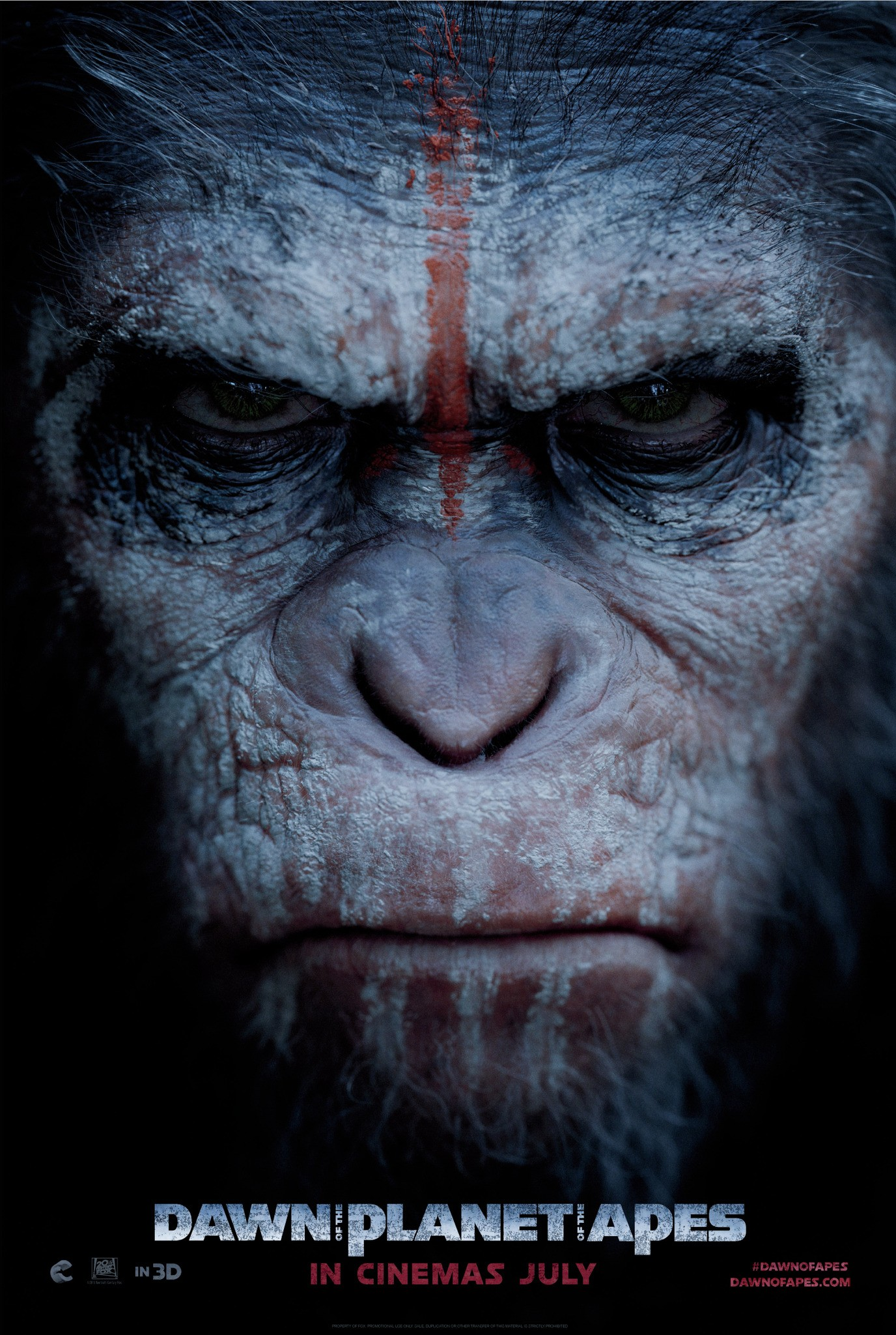 Dawn of the Planet of the Apes-Official Poster Banner PROMO POSTER XLG-13DEZEMBRO2013-04