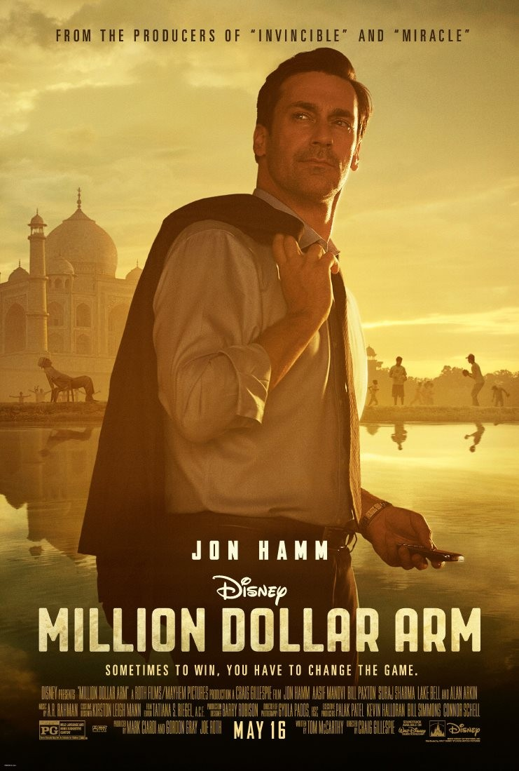 Million Dollar Arm-Official Poster Banner PROMO POSTER XLG-26DEZEMBRO2013