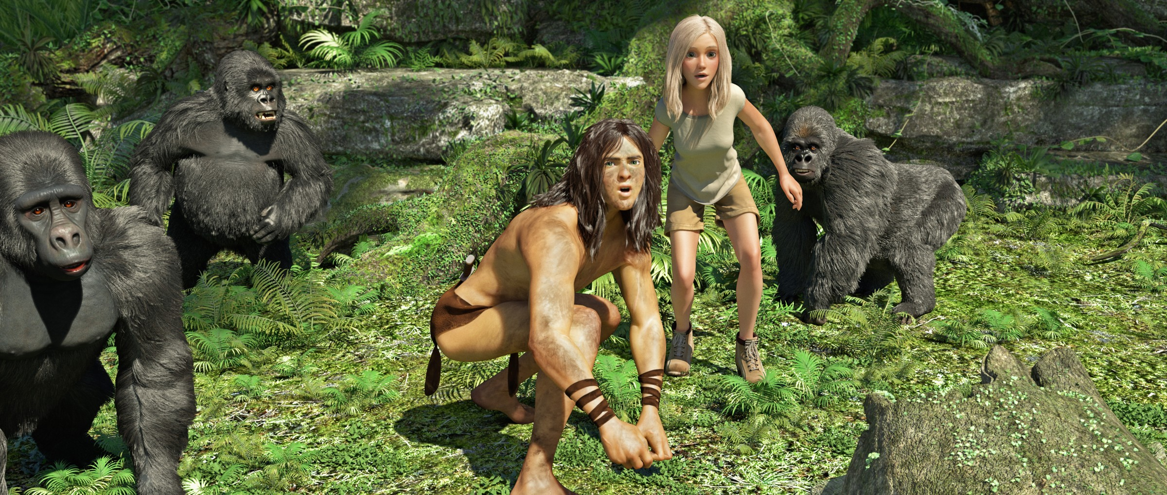 Tarzan 3D-Animation Official Poster Banner PROMO PHOTOS-10DEZEMBRO2013-04
