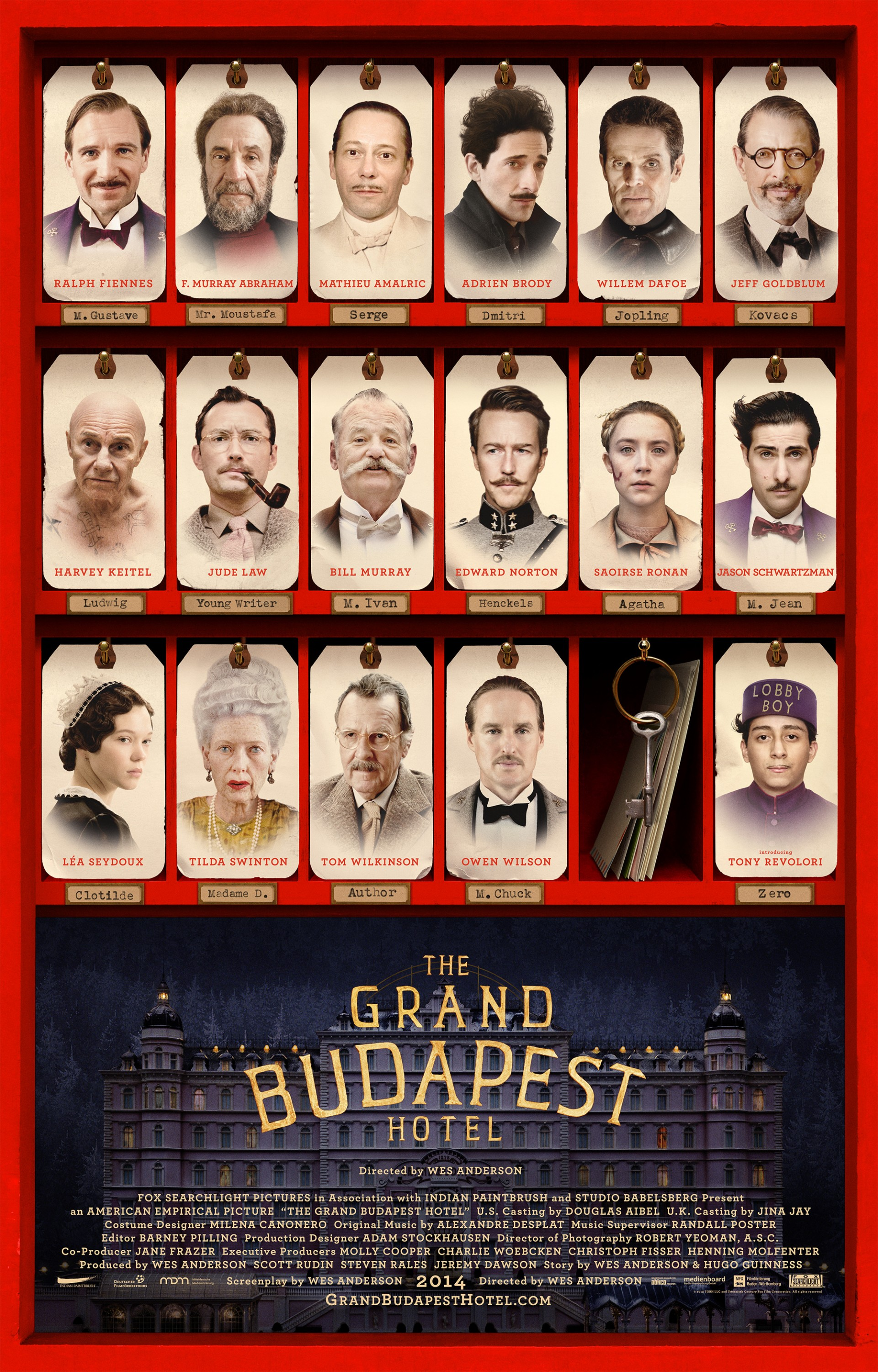 The Grand Budapest Hotel-Official Poster Banner PROMO POSTER XXLG-19DEZEMBRO2013