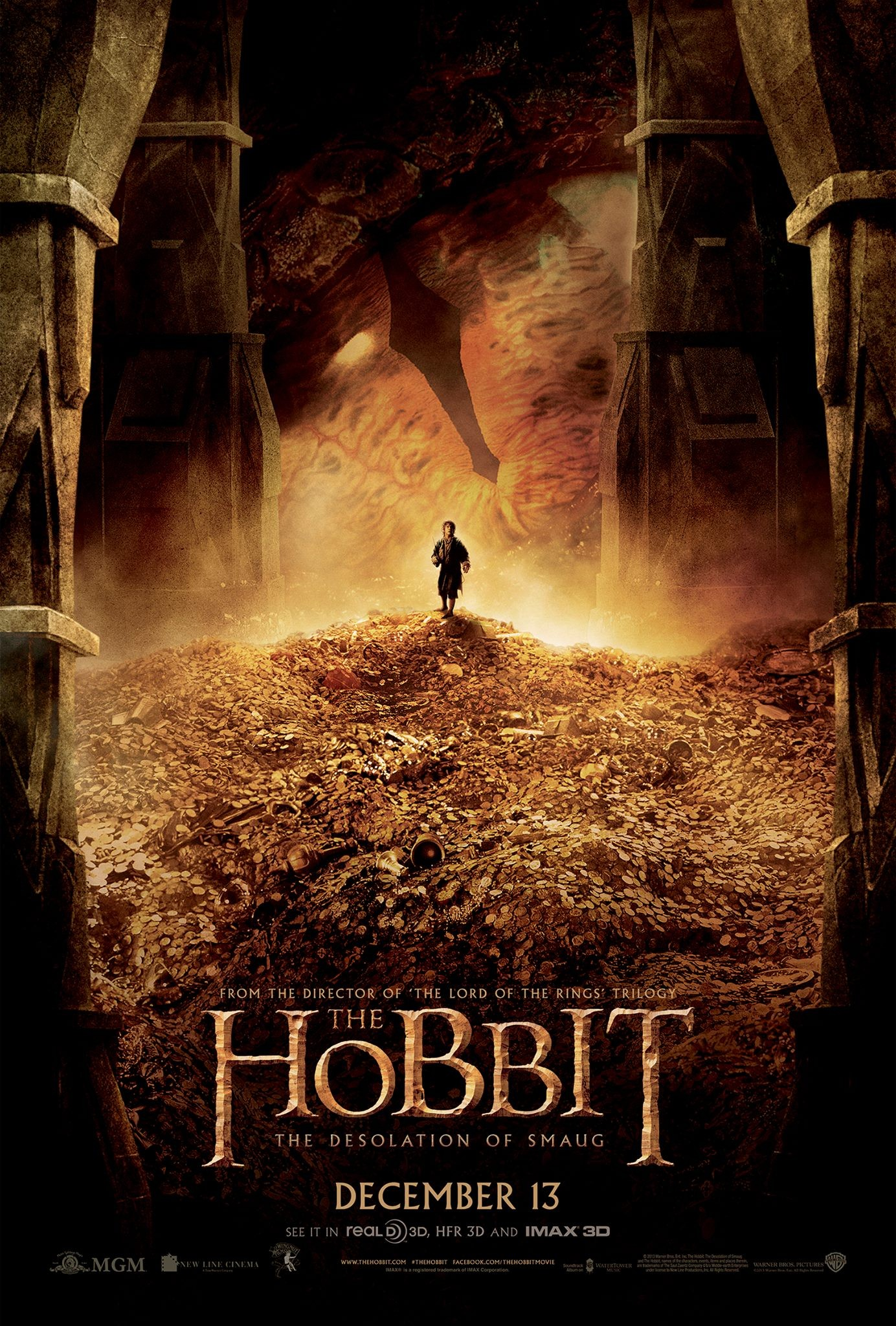 The Hobbit The Desolation Of Smaug-Official Poster Banner PROMO POSTER XXLG-16DEZEMBRO2013