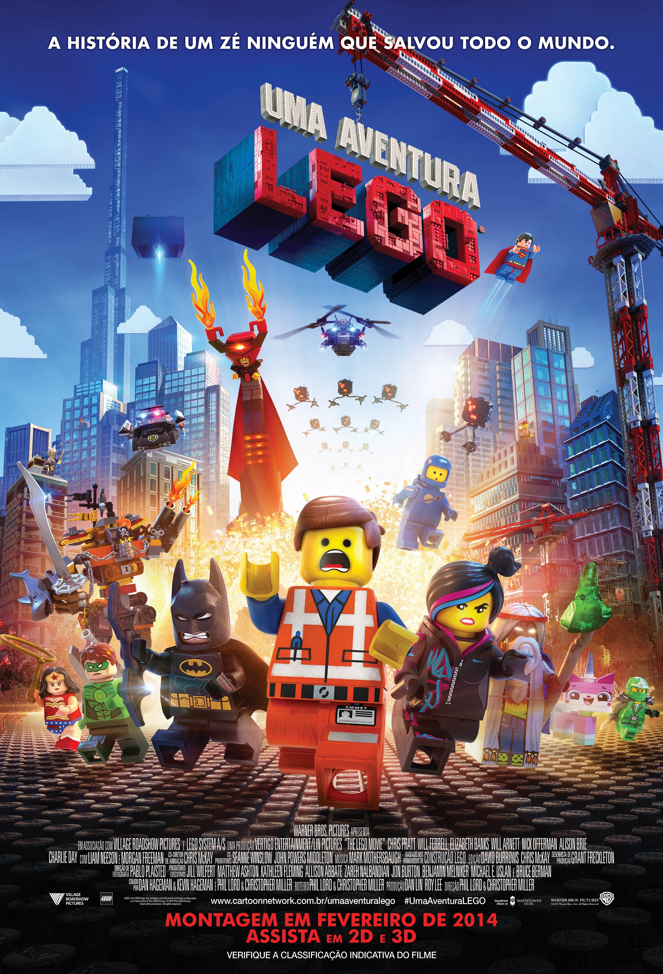 The Lego Movie-Official Poster Banner PROMO POSTER XXLG BRASIL-04NOVEMBRO2013