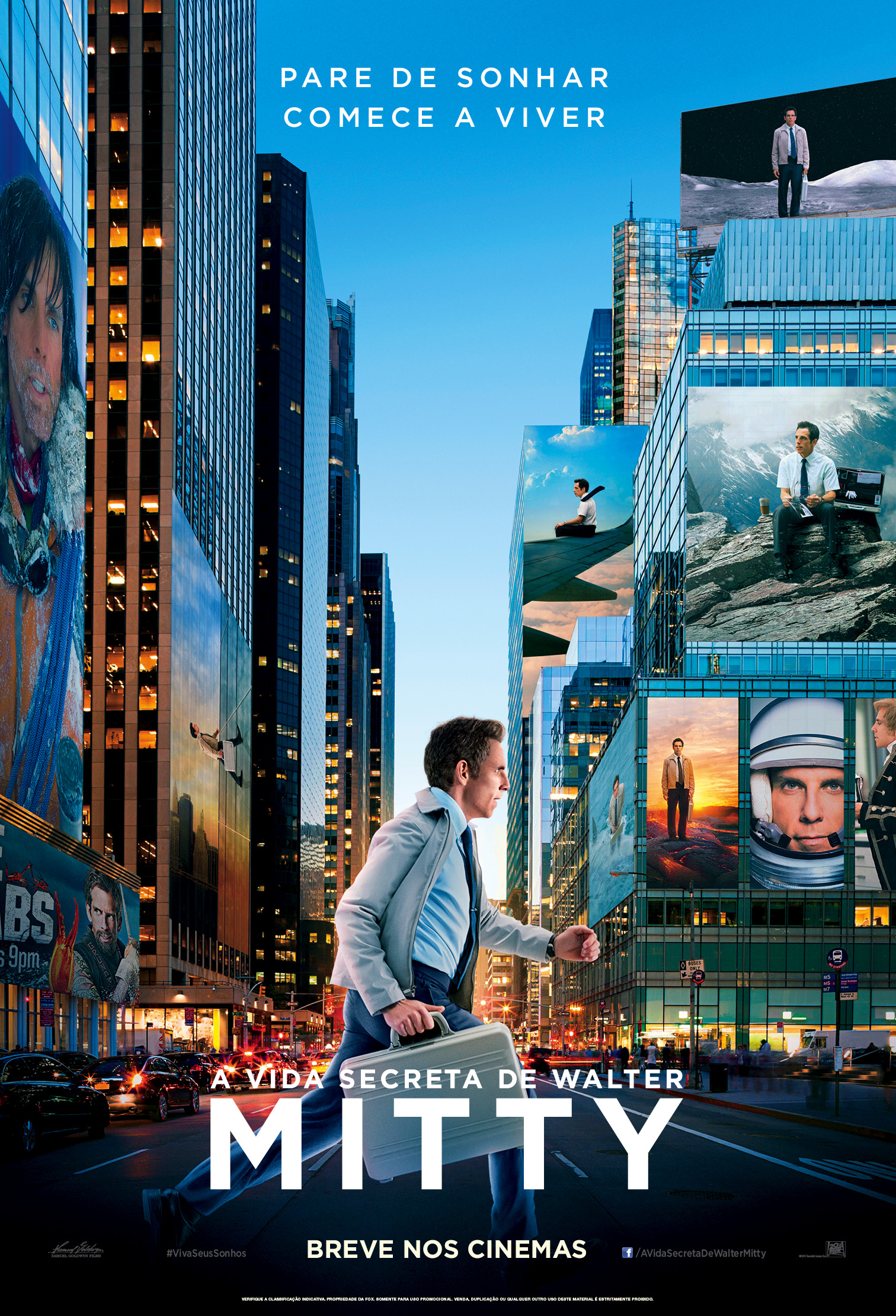 The Secret Life of Walter Mitty-Official Poster Banner PROMO POSTER NACIONAL-03DEZEMBRO2013