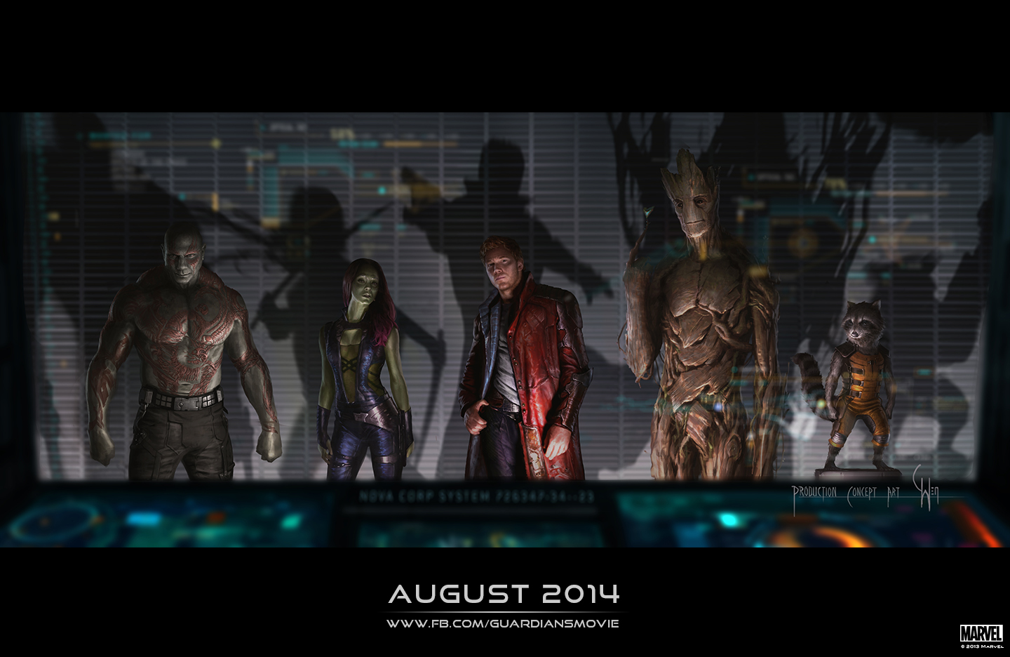 GUARDIANS OF THE GALAXY-Official Poster Banner PROMO FIRST LOOK-02JANEIRO2014-01