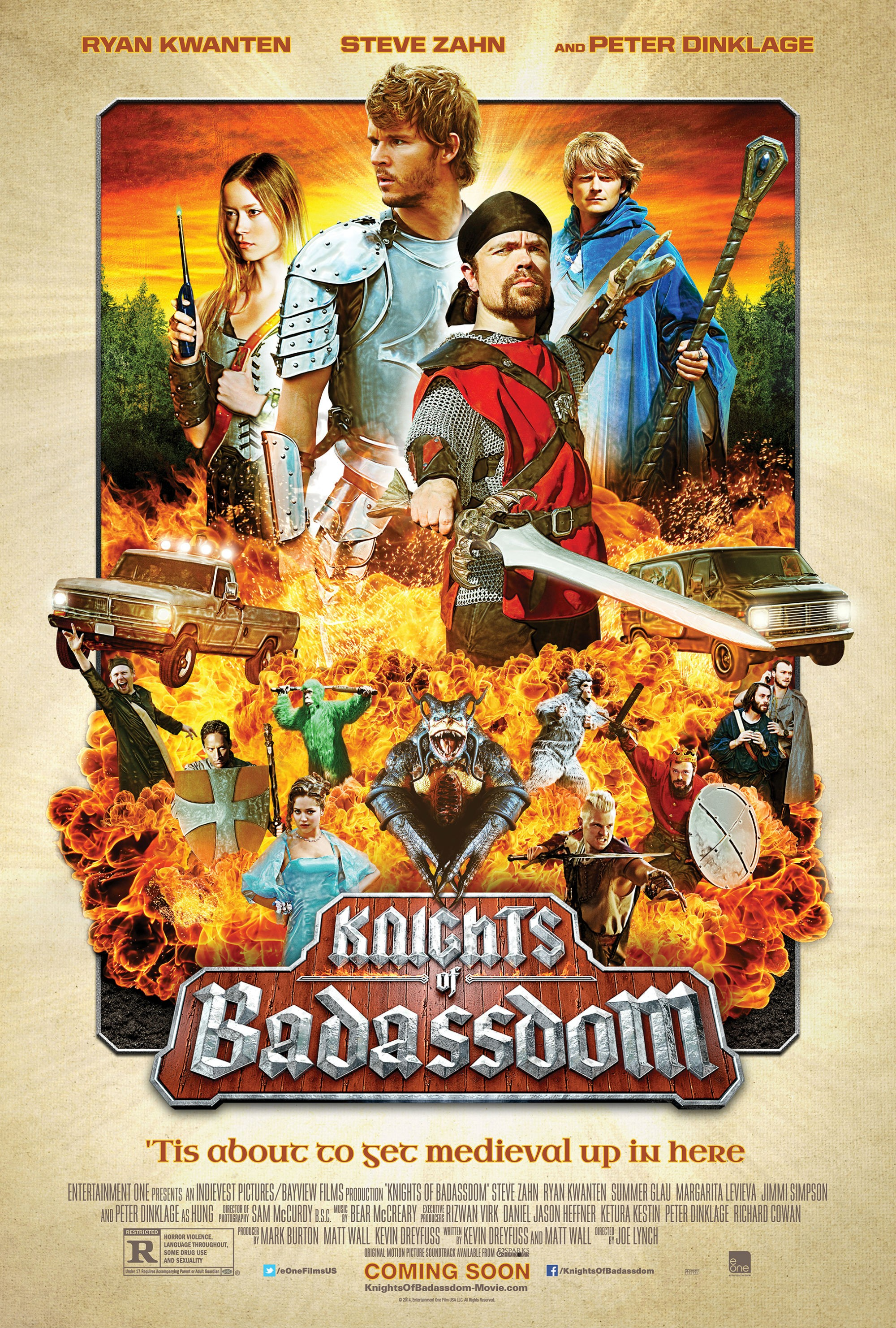 KNIGHTS OF BADASSDOM-Official Poster Banner PROMO POSTER XXLG-13JANEIRO2014