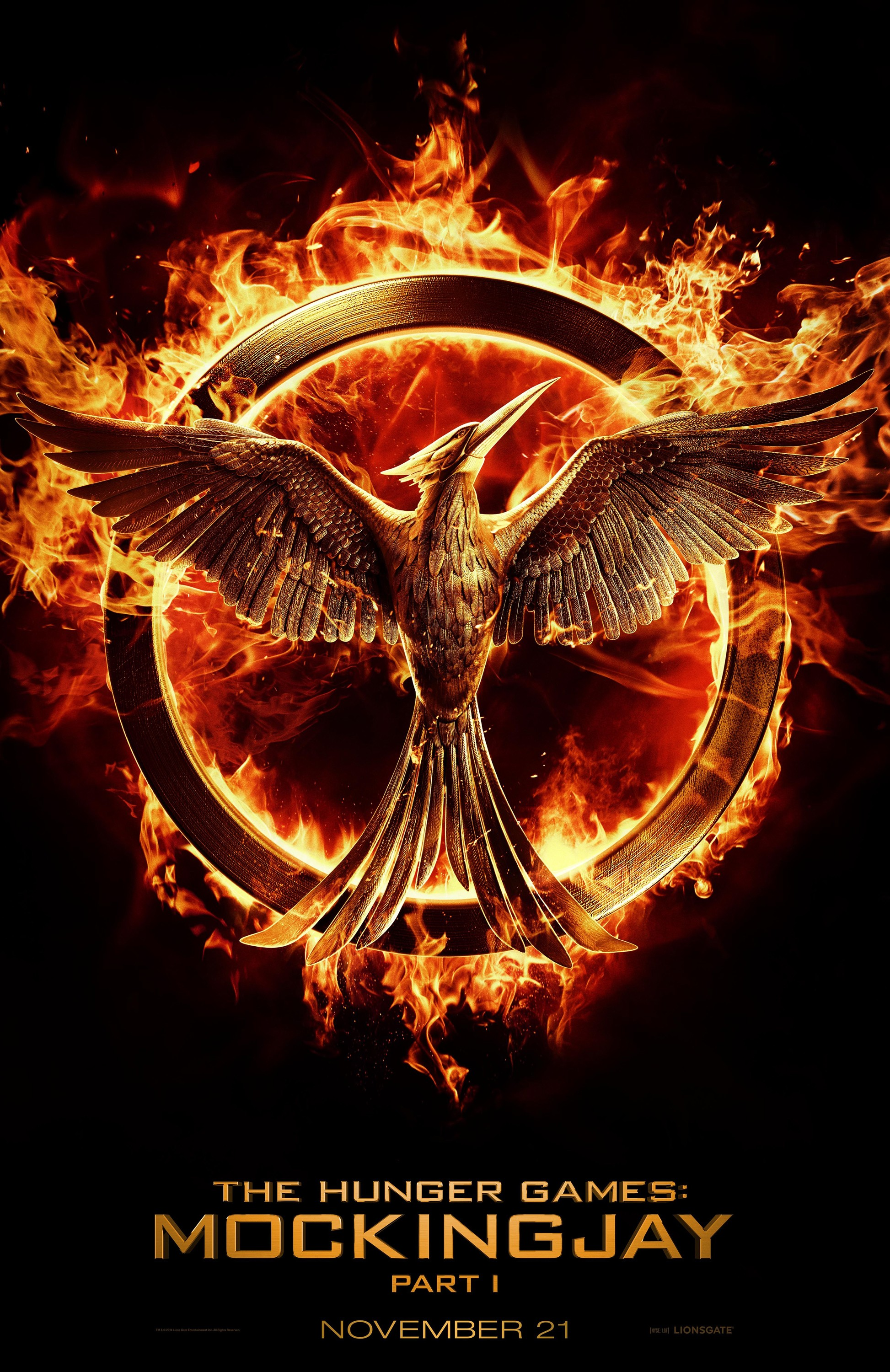 The Hunger Games Mockingjay - Part 1-Official Poster Banner PROMO POSTER XXLG-23JANEIRO2014