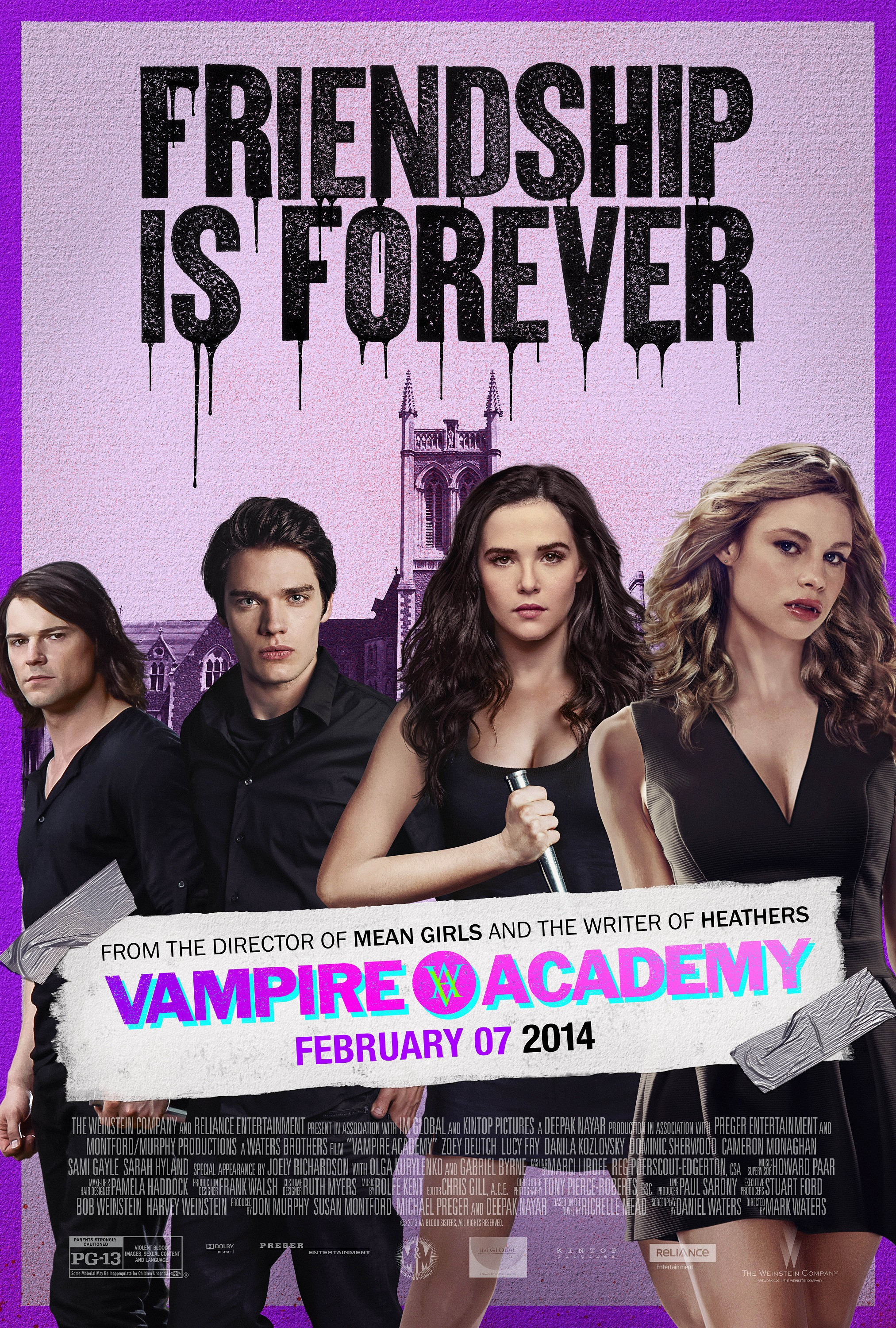 VAMPIRE ACADEMY BLOOD SISTERS-Official Poster Banner PROMO POSTER-29JANEIRO2014