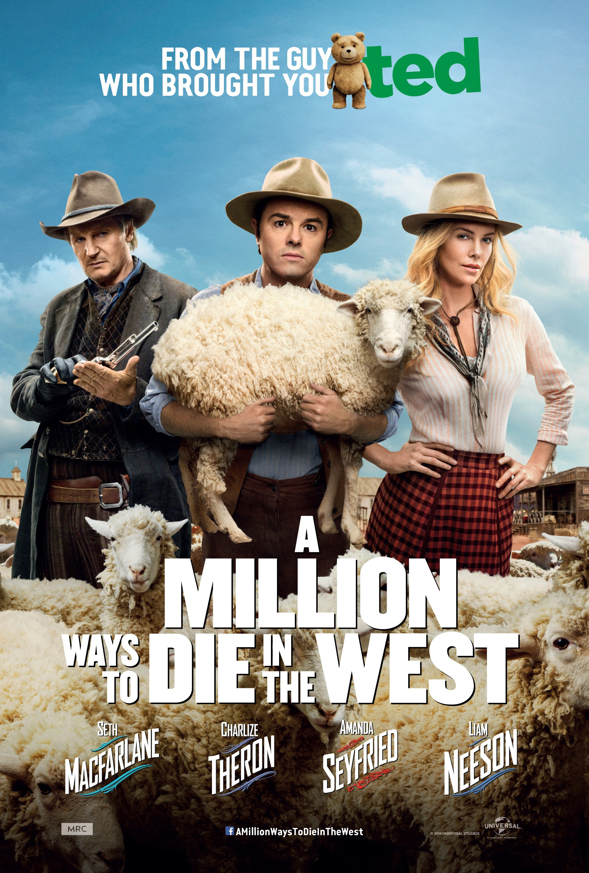 A MILLION WAYS TO DIE IN THE WEST-Official Poster Banner PROMO XXLG-27FEVEREIRO2014