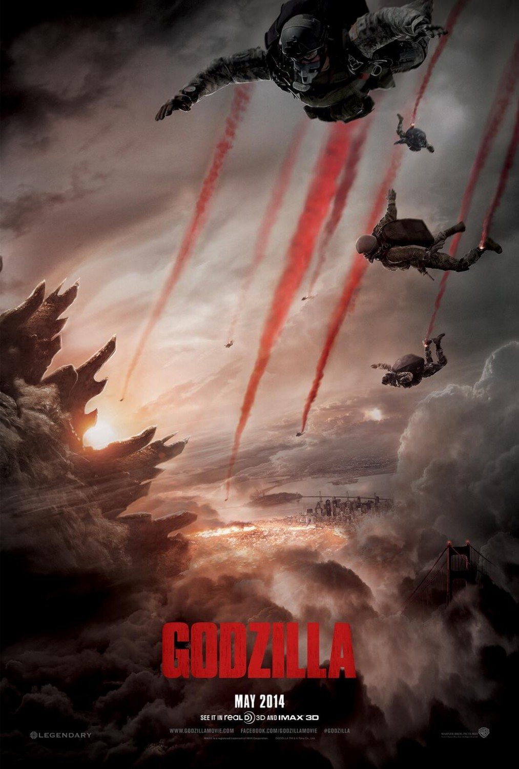 Godzilla-Official Poster Banner PROMO POSTER-11DEZEMBRO2013