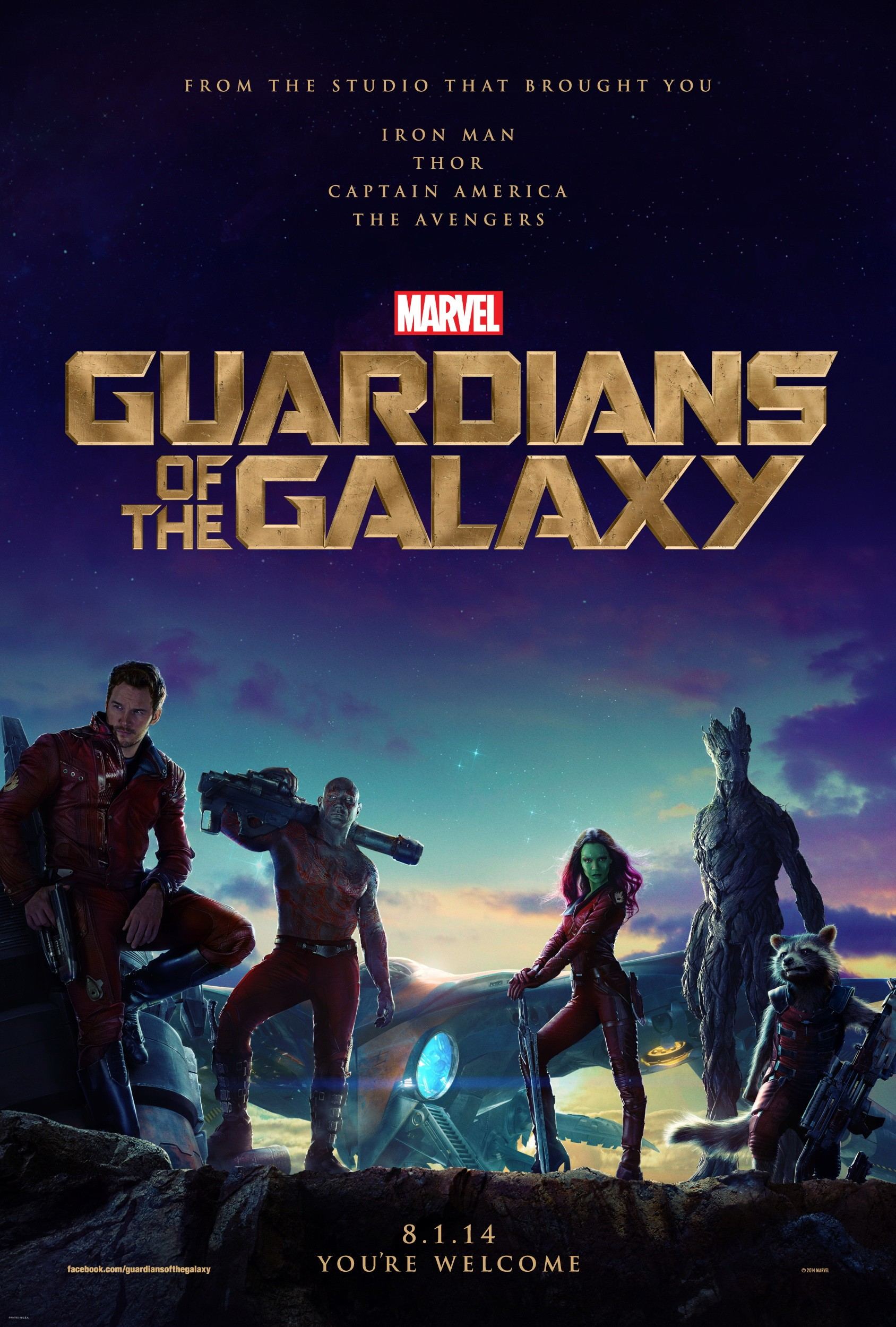 Guardians of the Galaxy-Official Poster Banner PROMO XXLG-21FEVEREIRO2014