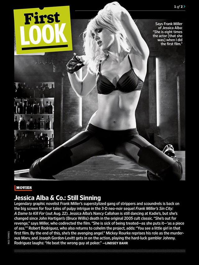 Sin City A Dame to Kill For-Official Poster Banner PROMO EW-28FEVEREIRO2014-01