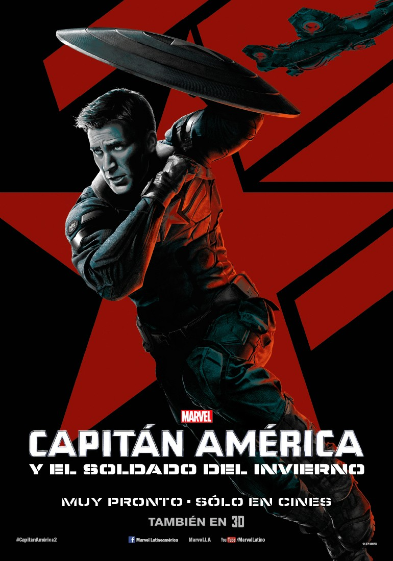 Captain America The Winter Soldier-Official Poster Banner PROMO XLG-14MARCO2014-0