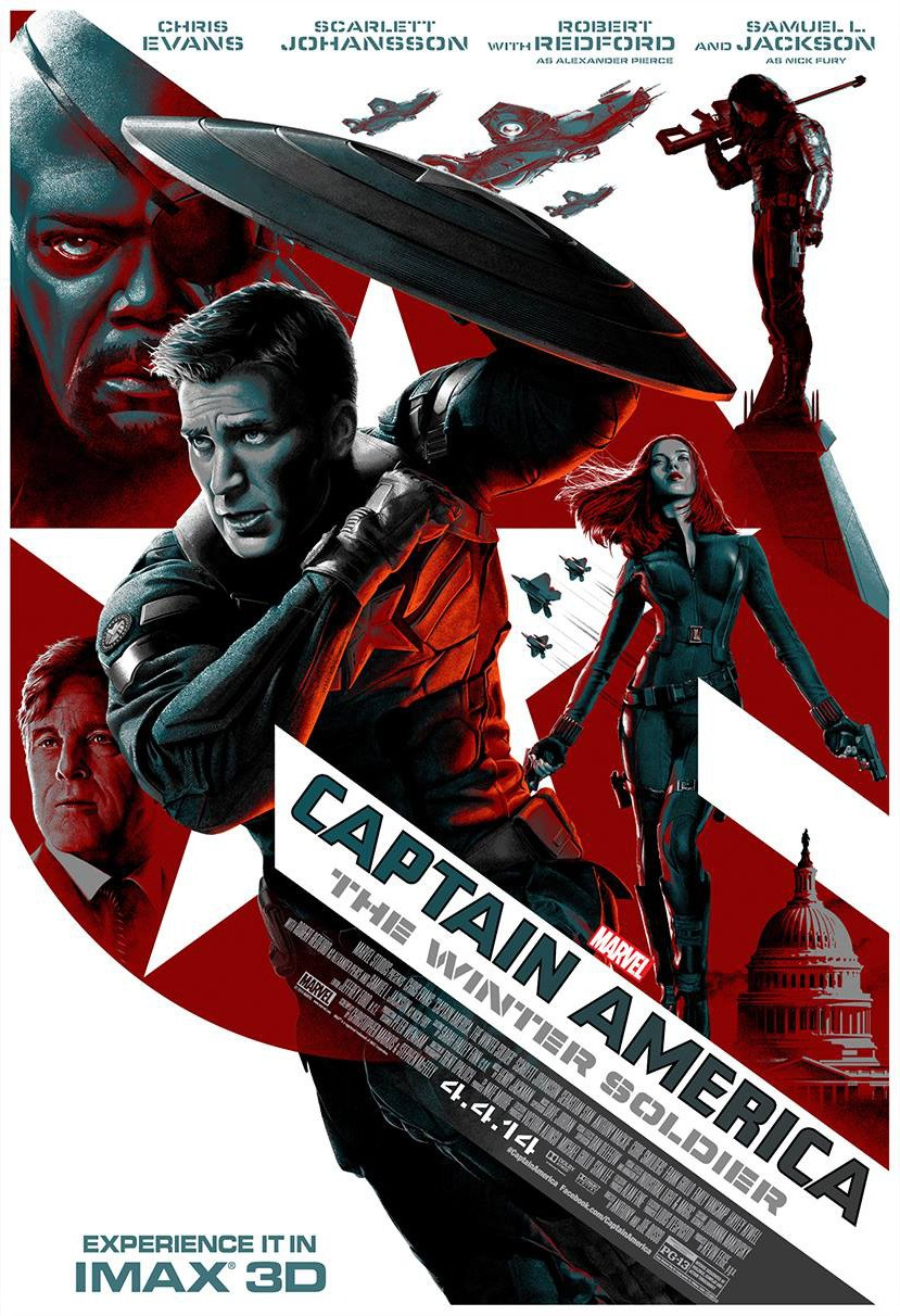 Captain America The Winter Soldier-Official Poster Banner PROMO XLG-20MARCO2014
