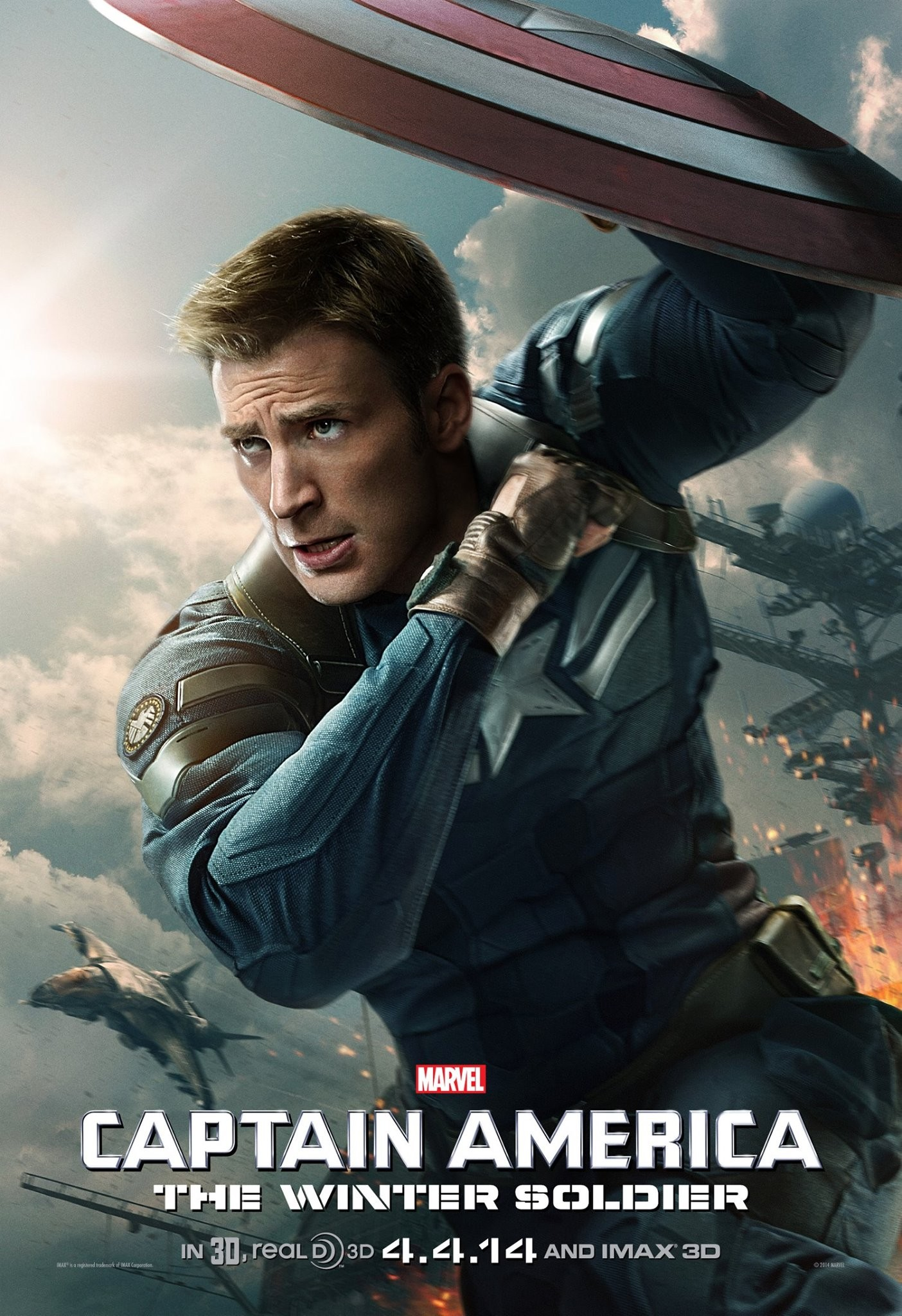 Captain America The Winter Soldier-Official Poster Banner PROMO XXLG-03MARÇO2014