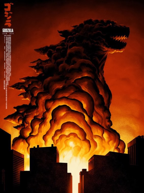 Godzilla-Official Poster Banner PROMO-12MARCO2014