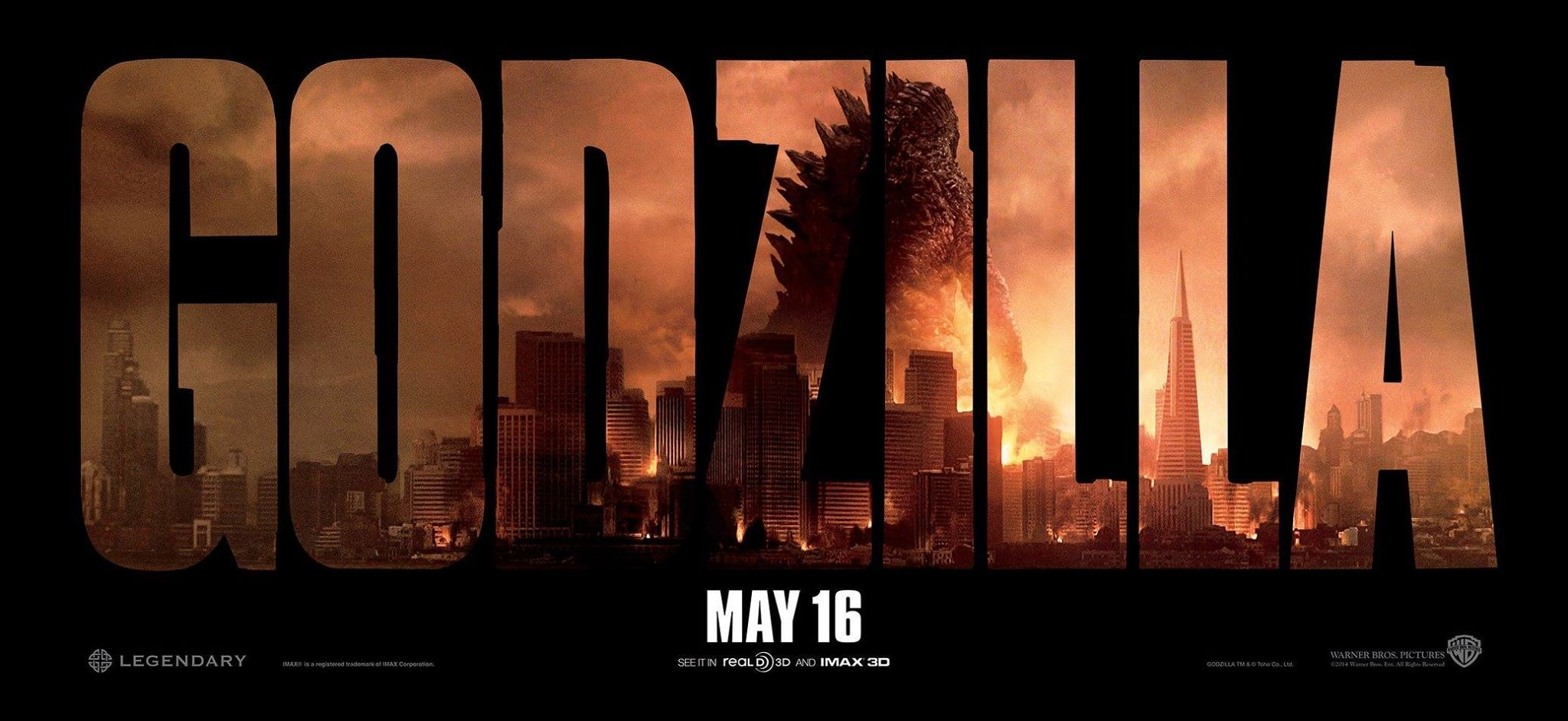 Godzilla-Official Poster Banner PROMO XXLG-26MARCO2014