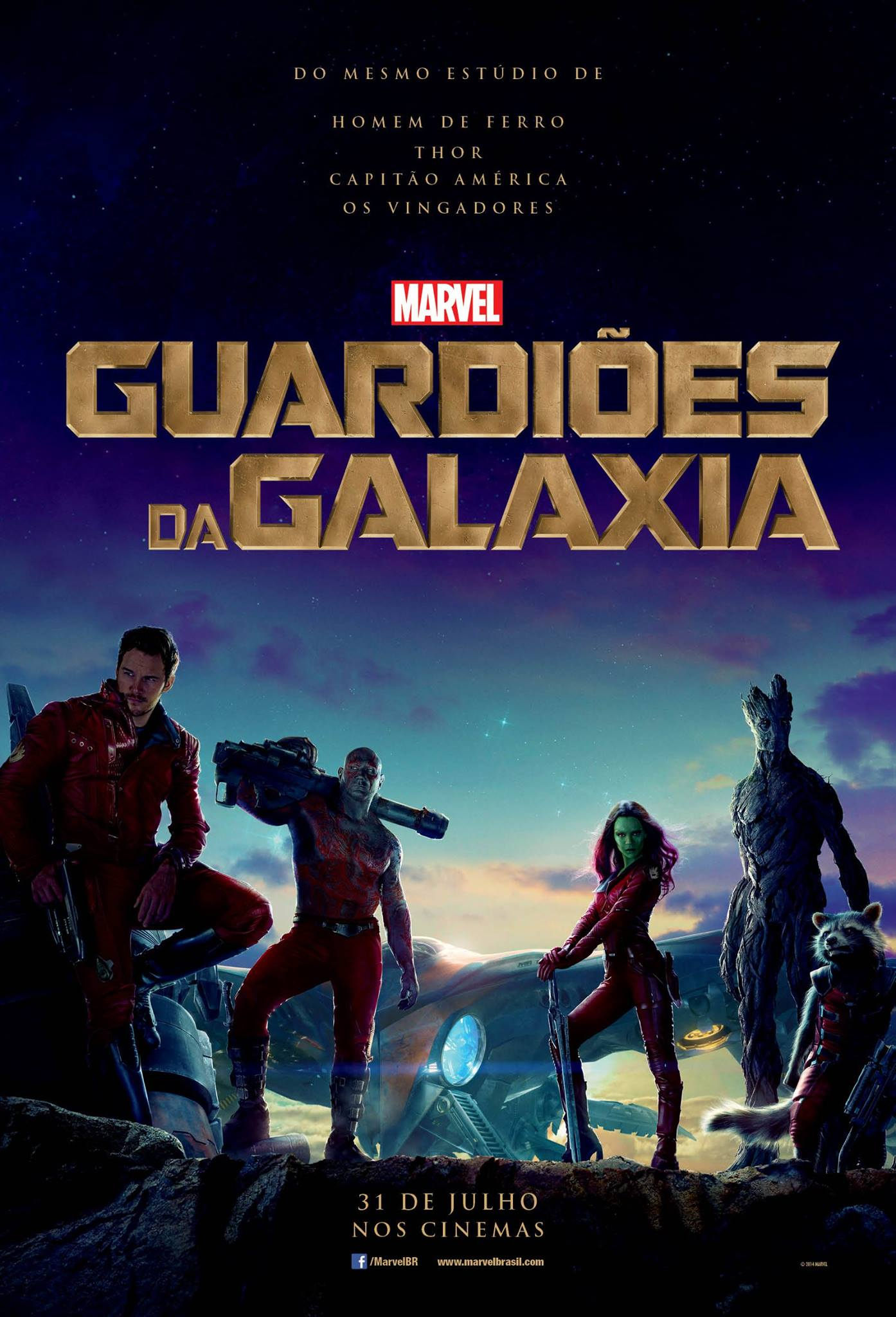 Guardians of the Galaxy-Official Poster Banner XLG NACIONAL-19MARCO2014