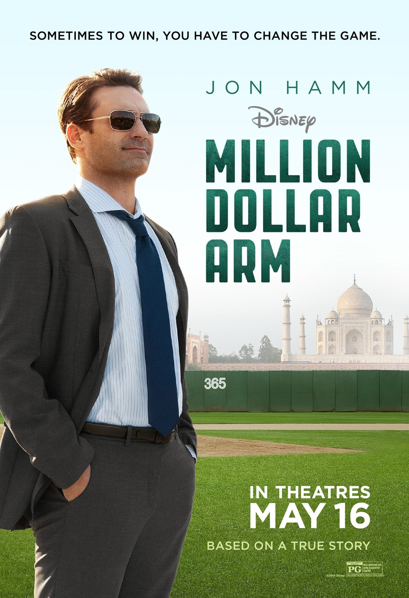 Million Dollar Arm-Official Poster Banner PROMO XXLG-31MARCO2014