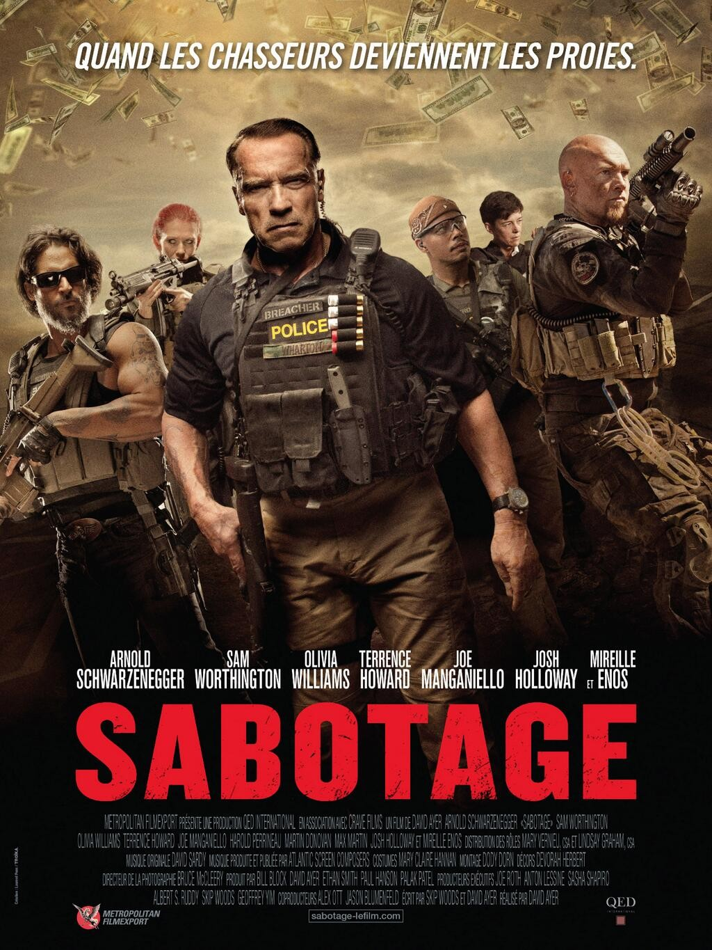 Sabotage-Official Poster Banner PROMO XLG-20MARCO2014