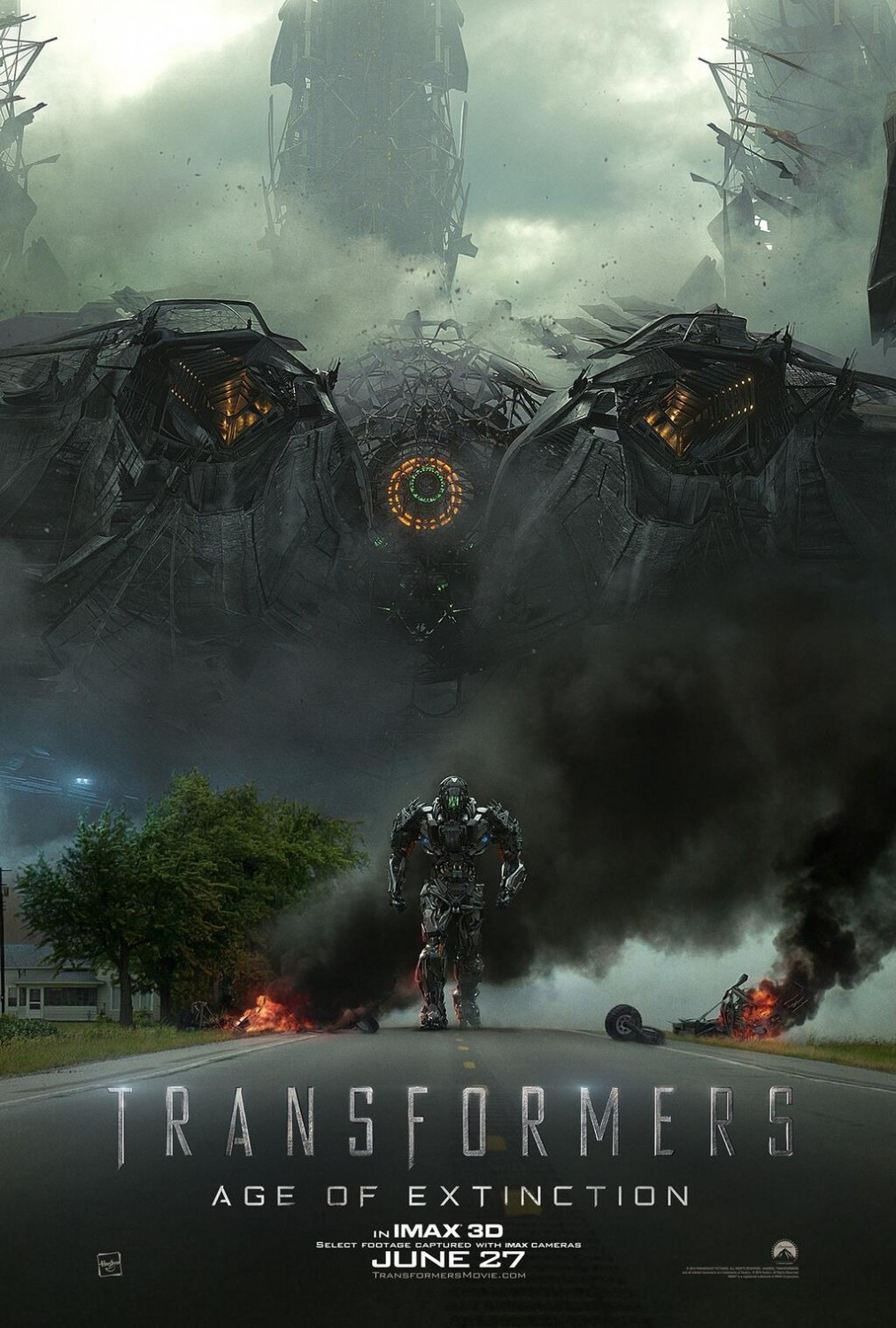 Transformers Age of Extinction-Official Poster Banner PROMO XLG-13MARCO2014
