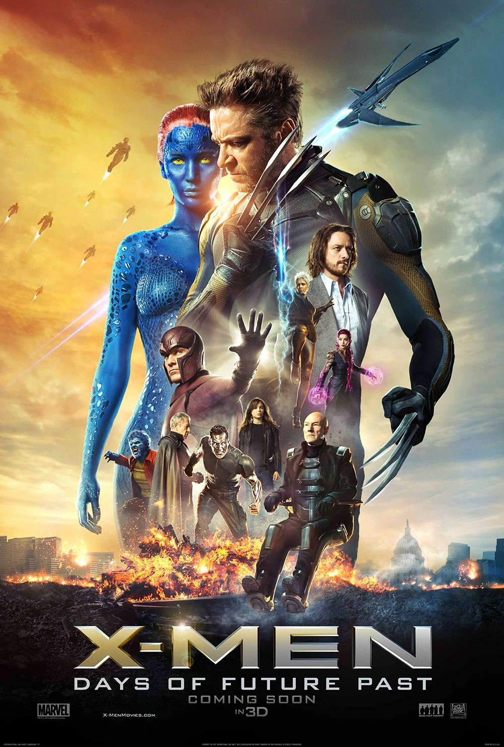 X-MEN DAYS OF FUTURE PAST-Official Poster Banner PROMO XLG-24MARCO2014