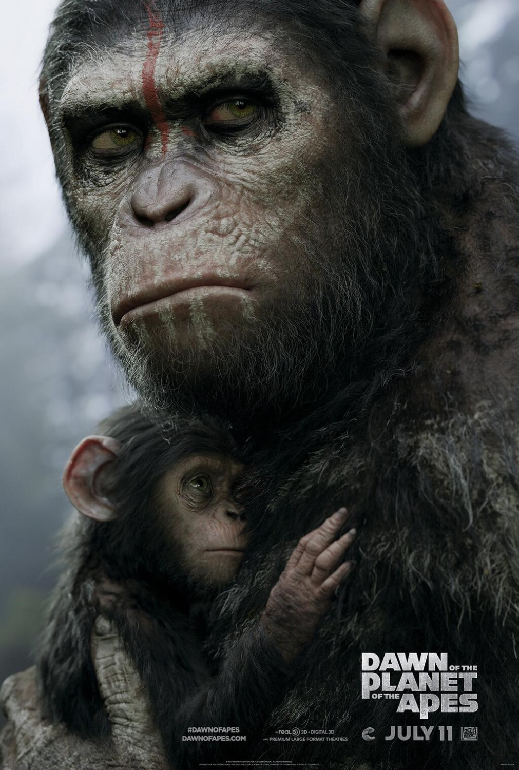 Dawn of the Planet of the Apes-Official Poster Banner XLG-01ABRIL2014