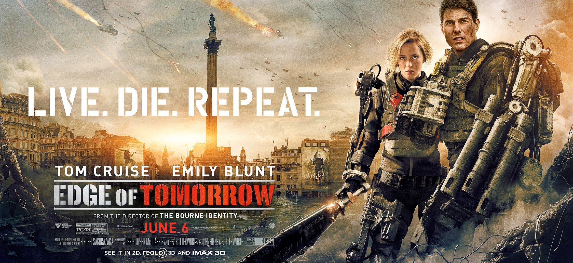 EDGE OF TOMORROW-Official Poster Banner PROMO XXLG-29ABRIL2014