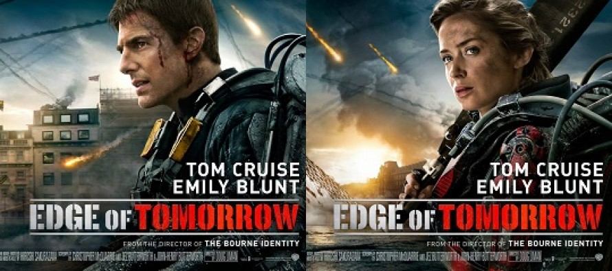 """Tom Cruise e Emily Blunt estampam BANNERS do sci-fi NO LIMITE DO AMANHÃ"