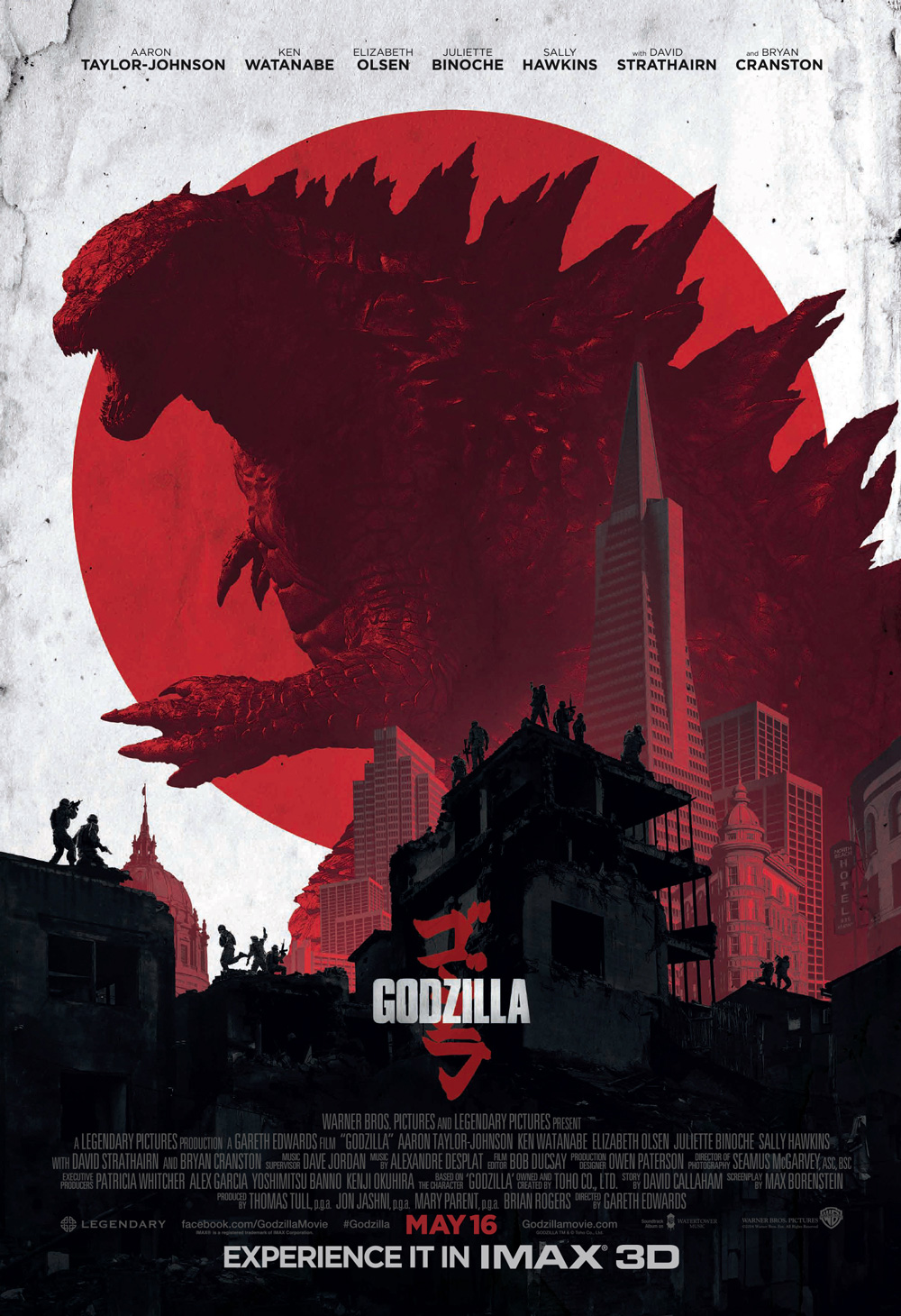 GODZILLA-Official Poster Banner PROMO IMAX-24ABRIL2014