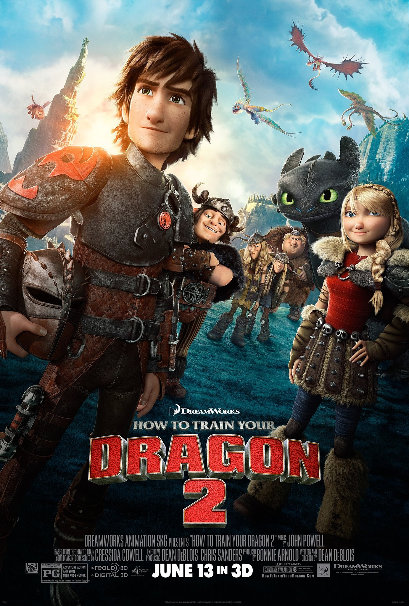 How to Train Your Dragon 2-Official Poster Banner PROMO XXLG-10ABRIL2014